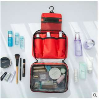Travel Mate / Toilet Organizer Bag / Travel Bag / Tas Kosmetik Mandi - Hijau muda