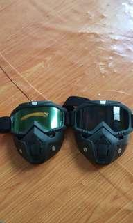 Goggle mask to helmet like shark raw