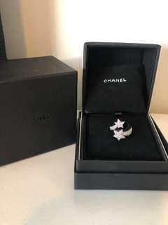 Authentic Chanel Comete diamond ring size 50