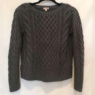 Gap Grey Cable Knit Sweater - XS
