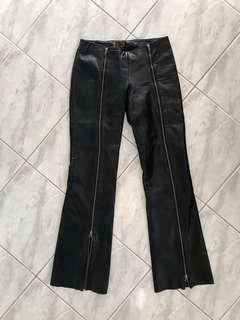 Danielle Black Leather Pants