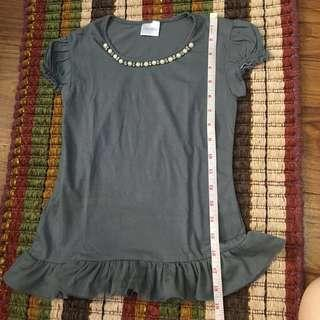 Tops shirts with lace size 8/10 for girls
