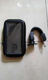 Motosikal phone gps holder casing waterproof