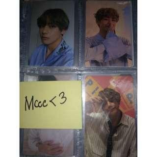 V BTS LY SERIES official Photocards