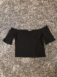 ARITZIA WILFRED FREE- Crop Top / Black/ Size Small