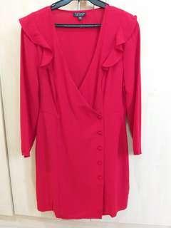 TOPSHOP Button Dress