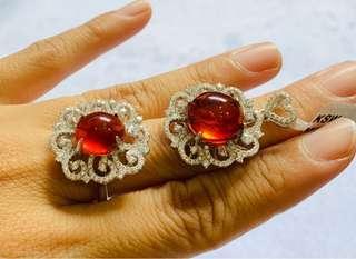 🚚 Amber pendant and ring sets, Burma Origin