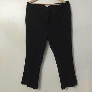 H&M Black Cropped Trousers