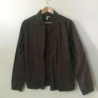 Penshoppe Brown & Army Green Bomber Jacket