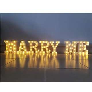 Marry Me Sign for Rental