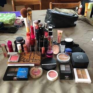Makeup lot! Drugstore & Urban decay benefit MAC tarte smashbox sonia kashuk illamasqua estee ELF colourpop revlon L'Oréal Victoria secret maybelline gosh Rimmel