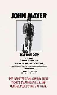 Tiket John Mayer Jakarta VIP