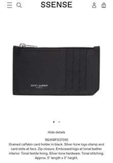 *PRICE DROP* Saint Laurent Fragment Card Holder