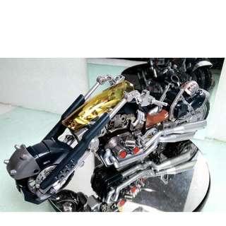 1/24 塗裝完成品 類金屬塗裝 壽屋 HEXA GEAR 機車Bandit Wheel可變形 PVC