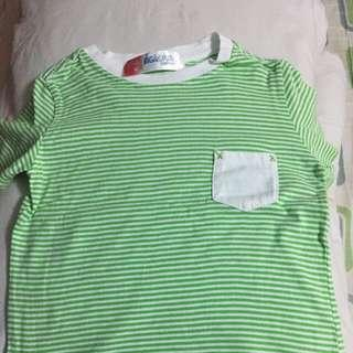 Green stripes shirt for toddlers