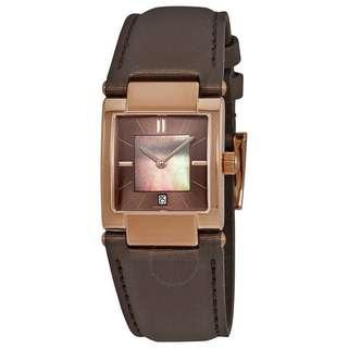 Tissot T02 Brown Mother of Pearl Dial Ladies Watch