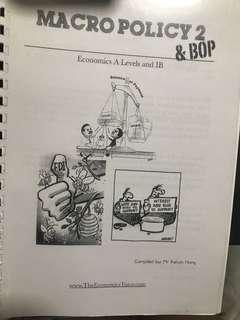A Level H2 Economics Macro Policy and BOP compiled by Kelvin Hong