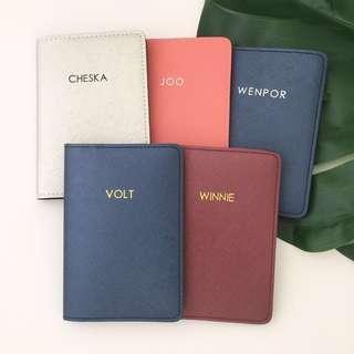 🚚 Minimalist style personalised passport cover custom passport holder personalised gift travel Organizer gift Valentine day gift couple gift set
