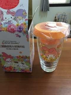 🚚 三麗鷗盆栽玻璃杯組