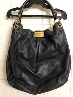 Marc by Marc Jacobs black leather hobo bag with strap