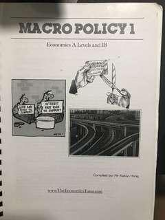 A Level H2 Economics Macropolicy compiled by Kelvin Hong