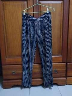 全新涼感條紋褲