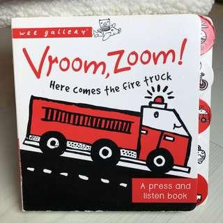 🚚 Vroom, Zoom! Here Comes the Fire Truck!: A Press and Listen Book (Wee Gallery)