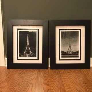 Eiffel Tower day and night