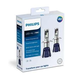 Philips Ultinon Essential LED Car Headlight Bulb H4