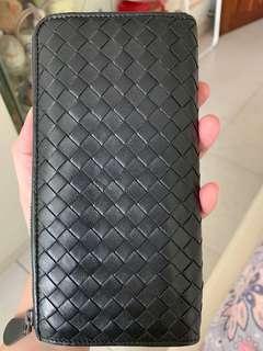 Bottega Veneta Black Long wallet