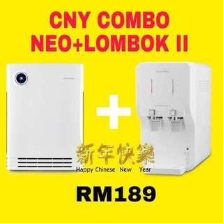 CNY combo penapis air water filter/ penapis udara air purifier