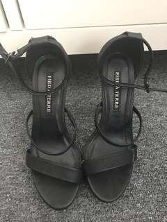 Black Strappy Stiletto Heels Size 6