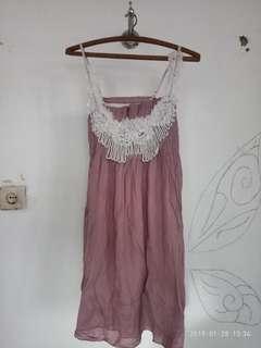 Mini dress ungu