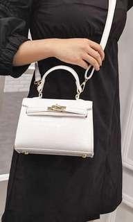 White Hermes style jelly bag