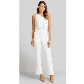 ARIA white jumpsuit