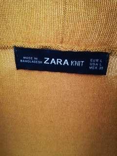 ZARA knit cardigan mustard size L