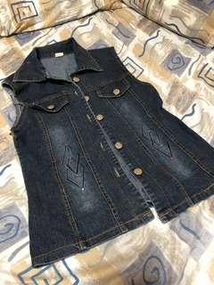 Maong jacket (sleeveless)