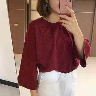 🚚 韓製的一件普通的七分袖