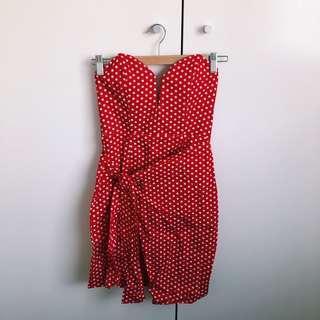 Red Pokadot Dress