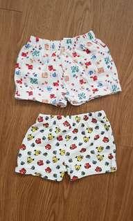 Angry bird & seasame street baby shorts