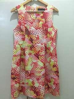 Printed dress with zipper