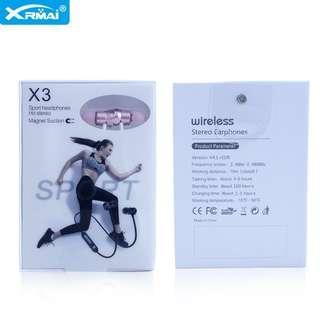🚚 X3藍芽金屬耳機運動磁吸耳機雙耳立體聲環繞式耳耳塞掛式藍牙耳機黑色/玫瑰金/白色
