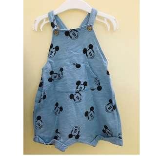 H&M Dungaree Mickey Mouse