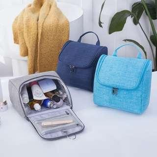 Travel Organizer Kosmetik Korean Toiletries Bag Tas Makeup Kosmetik - Hitam