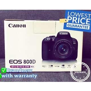 Canon DSLR EOS 800D with EF-S 18-55mm IS STM Lens 24.2MP Camera canon 800d original brandnew