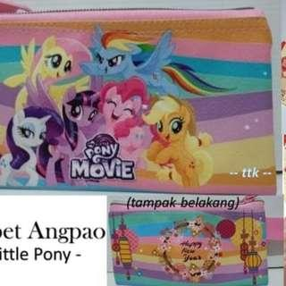 DOMPET ANGPAO / DOMPET IMLEK / SINCIA / CARS / LITTLE PONY / DOMPET - marvel biru