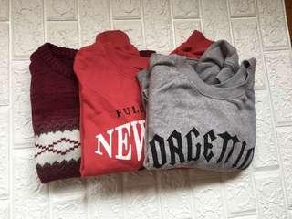 Set of sweater: 3 brand sweaters in excellent condition