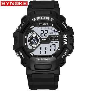 Synoke Shockproof Waterproof Sports Men's Watch Gift
