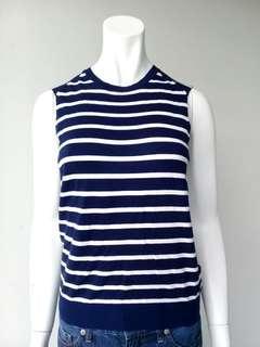Zara Stripe Navy Blue Knit Top