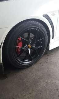 "17"" rep bbs rims with dunlop tyres"